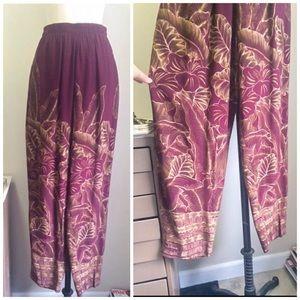 Pants - Cool Vintage 80s 90s Harem Drapey Floral Pant